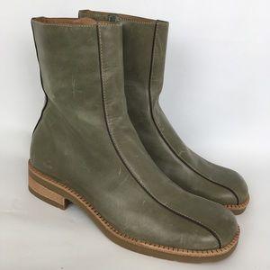 Nurture Woodland Olive Green Leather Boots